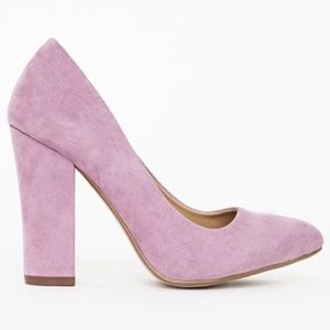 2002b58b06a4 Missguided Shoes - Missguided block heel court shoes lilac